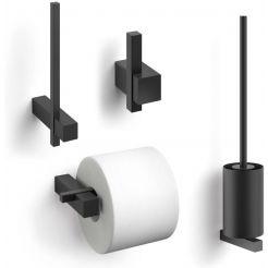 ZACK Carvo toilet accesoires set 4-in-1 rond Zwart