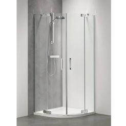 Sealskin Get Wet Custom douchecabine kwartrond 90x195 cm zilver hoogglans helder glas