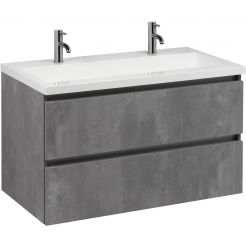 Saniselect Guarda meubelset 100x51x60cm beton grijs 2 kraangaten