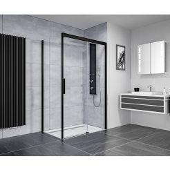 Ben IMotion douchecabine rechts schuivend 120x90x206 cm mat zwart/helder glas