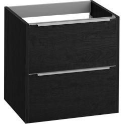 Saniselect Socan Slimline Onderkast 60x39,5x60 cm Eiken Zwart/Chroom
