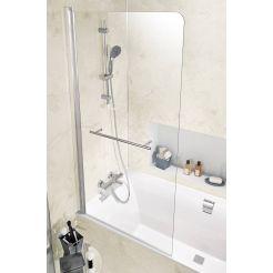 Ben Susana 1-delig Badklapwand 80x150cm Chroom / Helder Glas