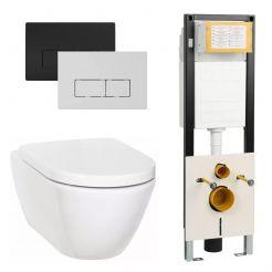 Ben Segno Compact Wandcloset Free Flush Xtra Glaze Wit / WBRN set