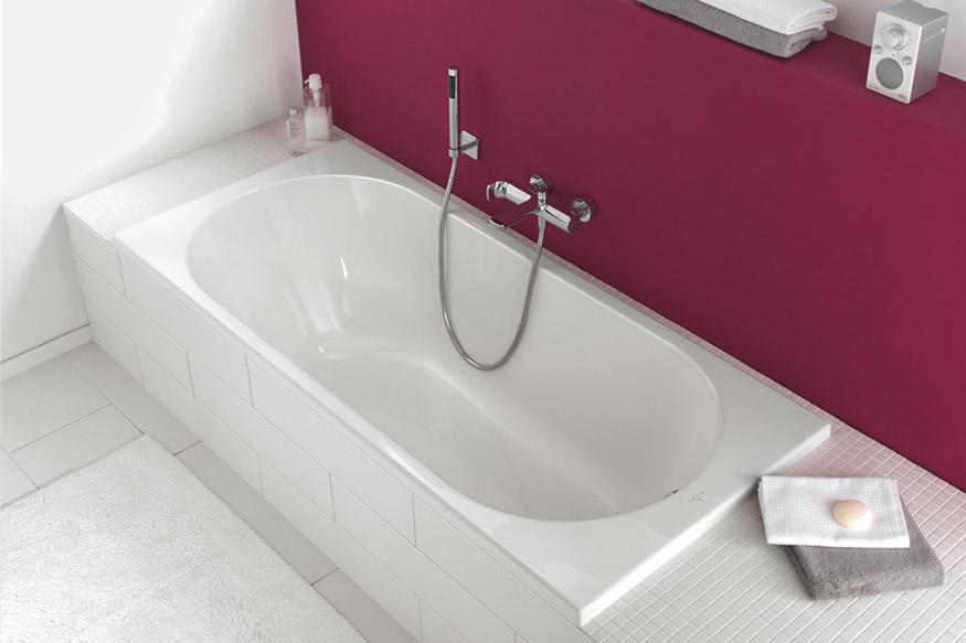Ovale baden: elegant en onbelemmerd badgenot