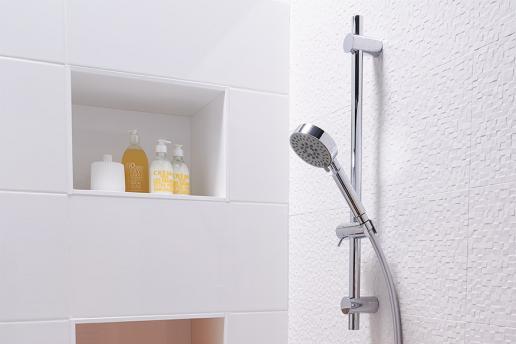 Een glijstang voor klein en groot doucheplezier