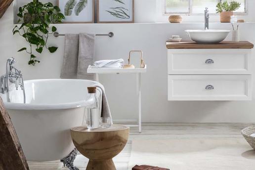 Creëer een landelijke badkamer