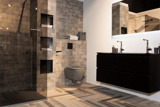 Industriële sferen in de badkamer