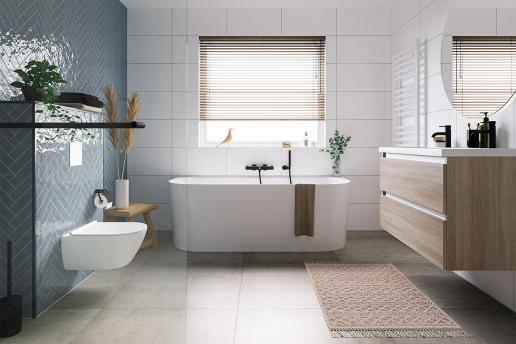 Scandinavische badkamer: rust, natuurlijk en comfortabel