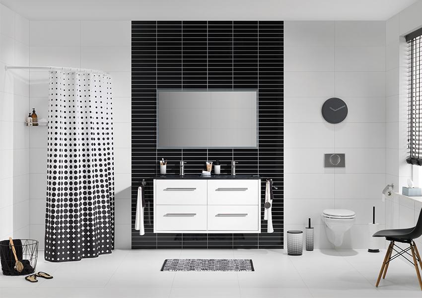 Zwart en wit in je badkamer