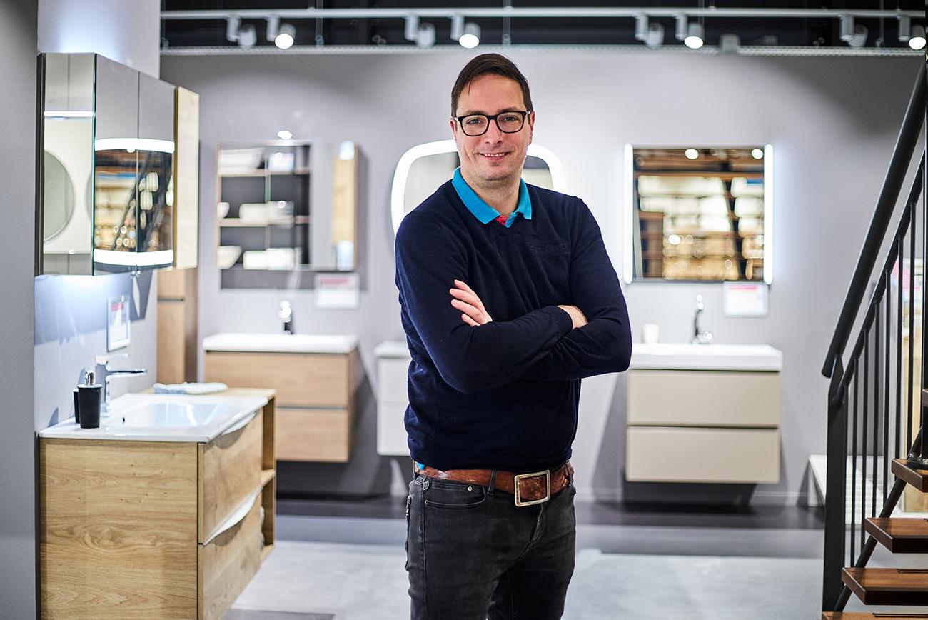Jan-Willem in zijn Sanidirect winkel