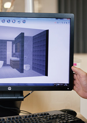 Ontwerp je eigen badkamer. Gebruik onze 3D tool